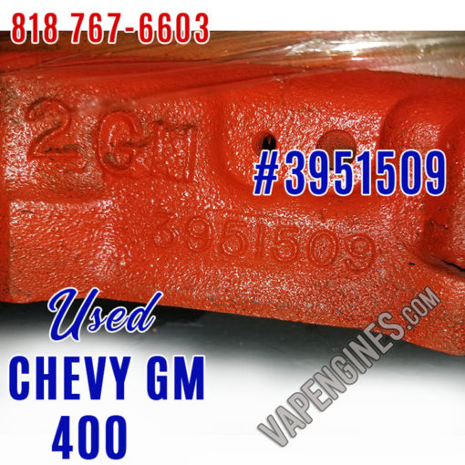 Used Chevy GM 400 Short Block Engine