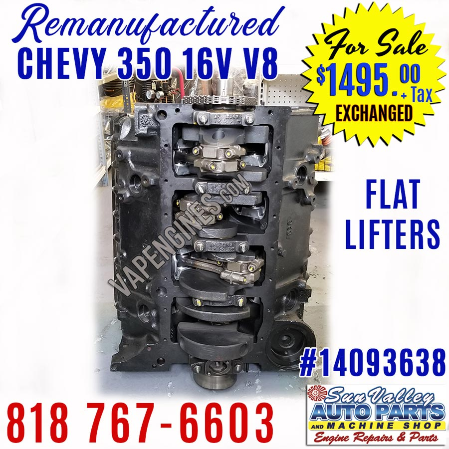 GM Chevy 350 5.7L Engine for Sale - Remanufactured