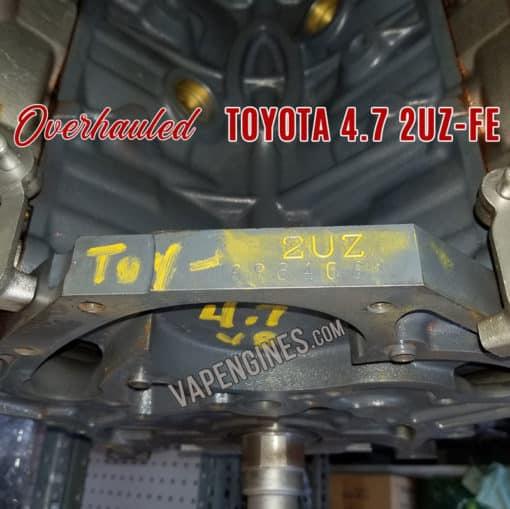 Toyota 4.7 2UZ engine block stamp