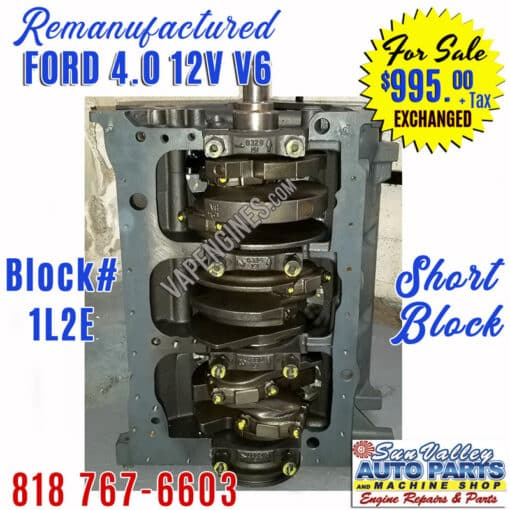 Ford 4.0 Engine Short Block