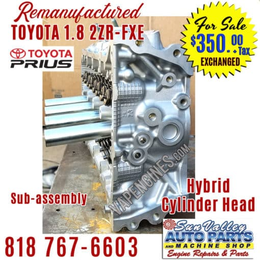10-15 Toyota 1.8 2ZRFXE cylinder head side
