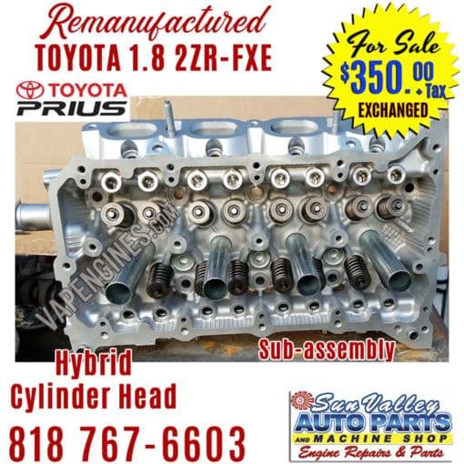 10-15 toyota prius 1.8 2zrfxe cylinder head