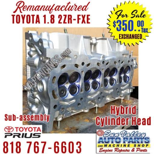 10-15 Toyota 1.8 2ZRFXE cylinder head angle