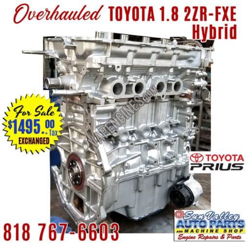 Overhauled Toyota Prius 1.8 2ZR-FXE engine