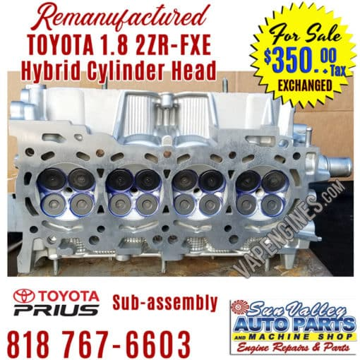 10-15 Toyota 1.8 2ZRFXE cylinder head valve view