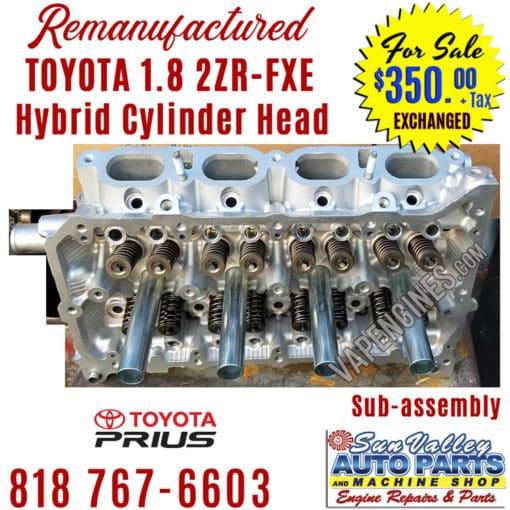 10-15 Toyota 1.8 2ZRFXE cylinder head tilt