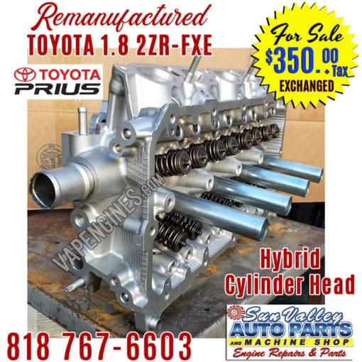 10-15 Toyota 1.8 2ZRFXE cylinder head side view