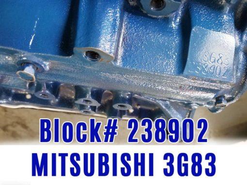 Block number 3G83- 238902. Overhauled Mitsubishi 3G83