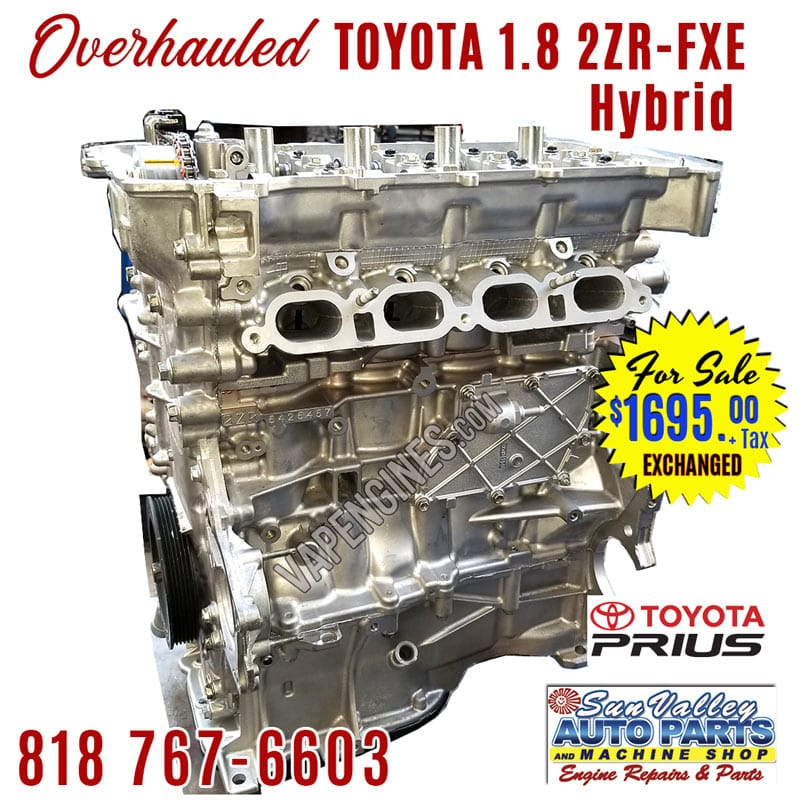 For Sale Overhauled Toyota Prius 1.8L 2ZR-FXE engine