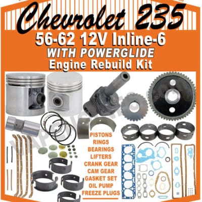 56-62 GM Chevy 235 Powerglide Engine Rebuild Kit
