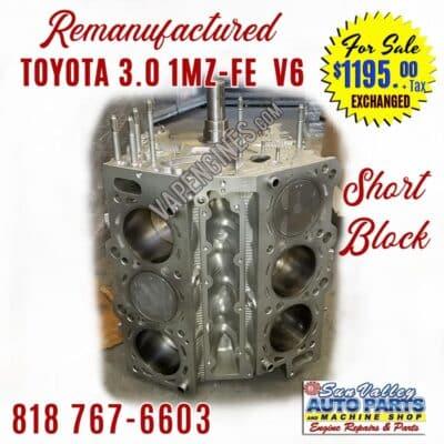 Remanufactured Toyota 3.0 1MZ Short Block Engine
