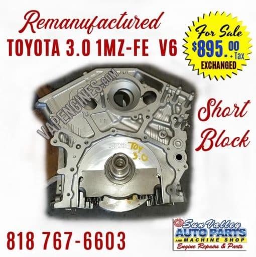 Toyota 3.0 1MZ-FE 3.0 Short Block for sale