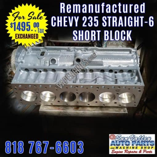 235 Chevy Inline 6 Short Block for sale