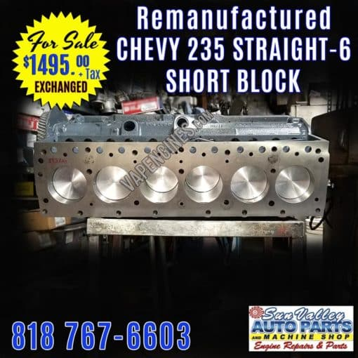 Straight-6 Chevy 235 Engine short block