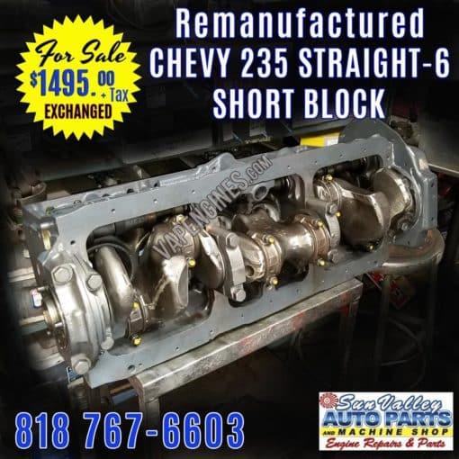 Chevy 235 Engine short Block