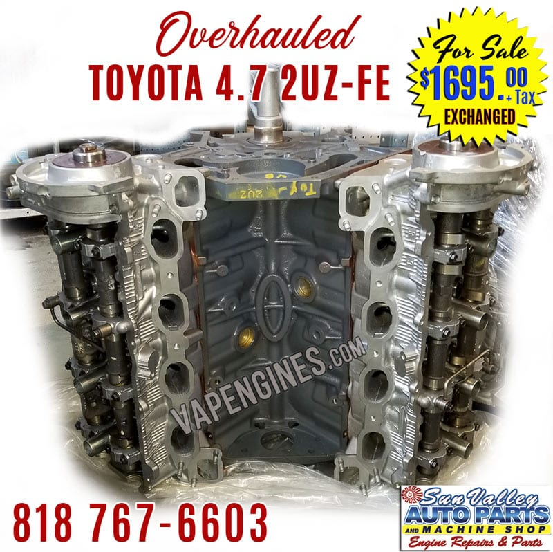 Overhauled Toyota 4.7 2UZ Engine Sale