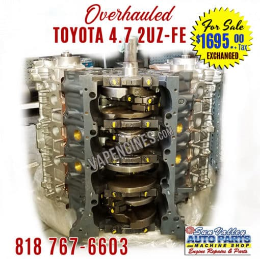98-09 Overhauled Toyota 4.7 2UZ-FE