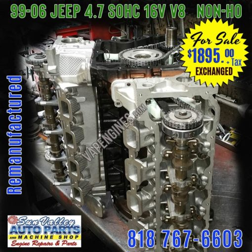 Remanufactured JEEP 4.7 engine for sale