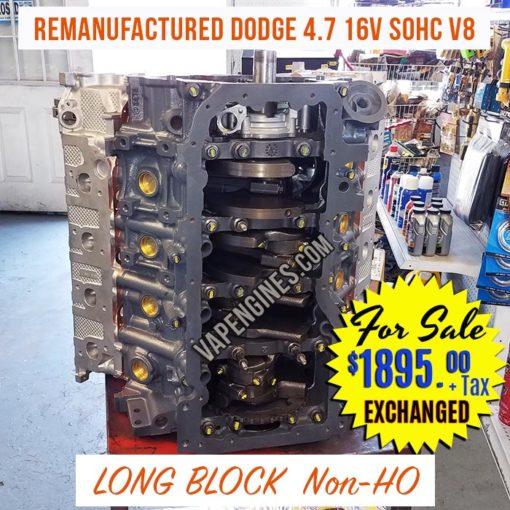 Reman Dodge 4.7 Engine for Sale