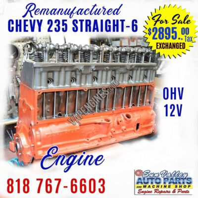 Rebuilt GM Chevy 235 Engine for Sale